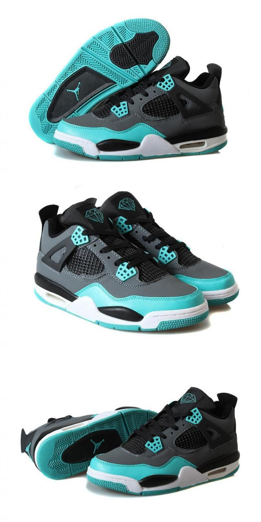"Air Jordan 4 Retro ""tiffany"" Tealblack/cement Grey in"