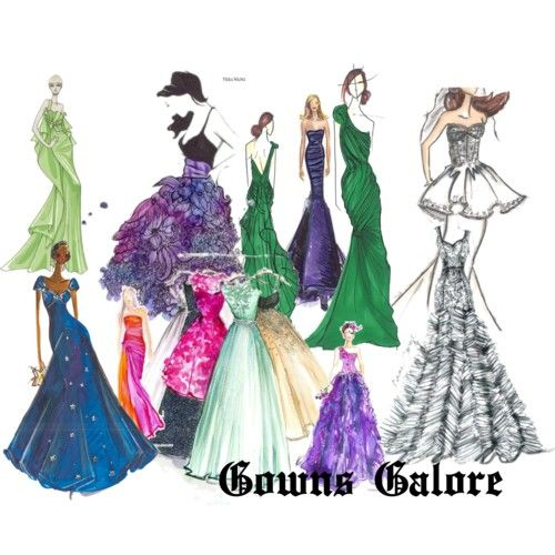 +gowns collage | fashion look from August 2013