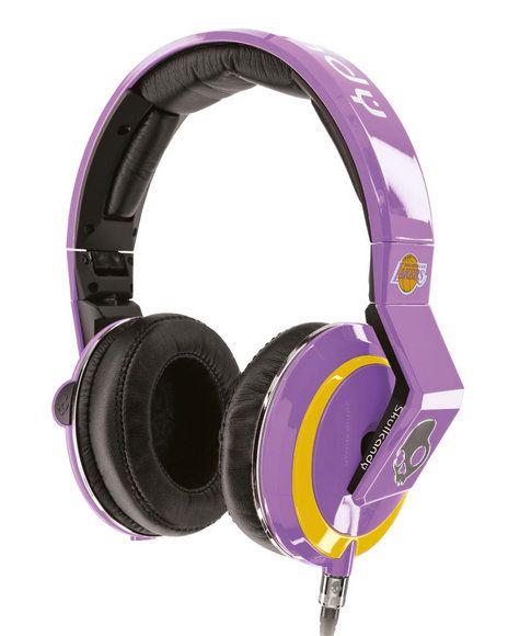 Mens Skullcandy NBA Mix Master Los Angeles Lakers Headphones