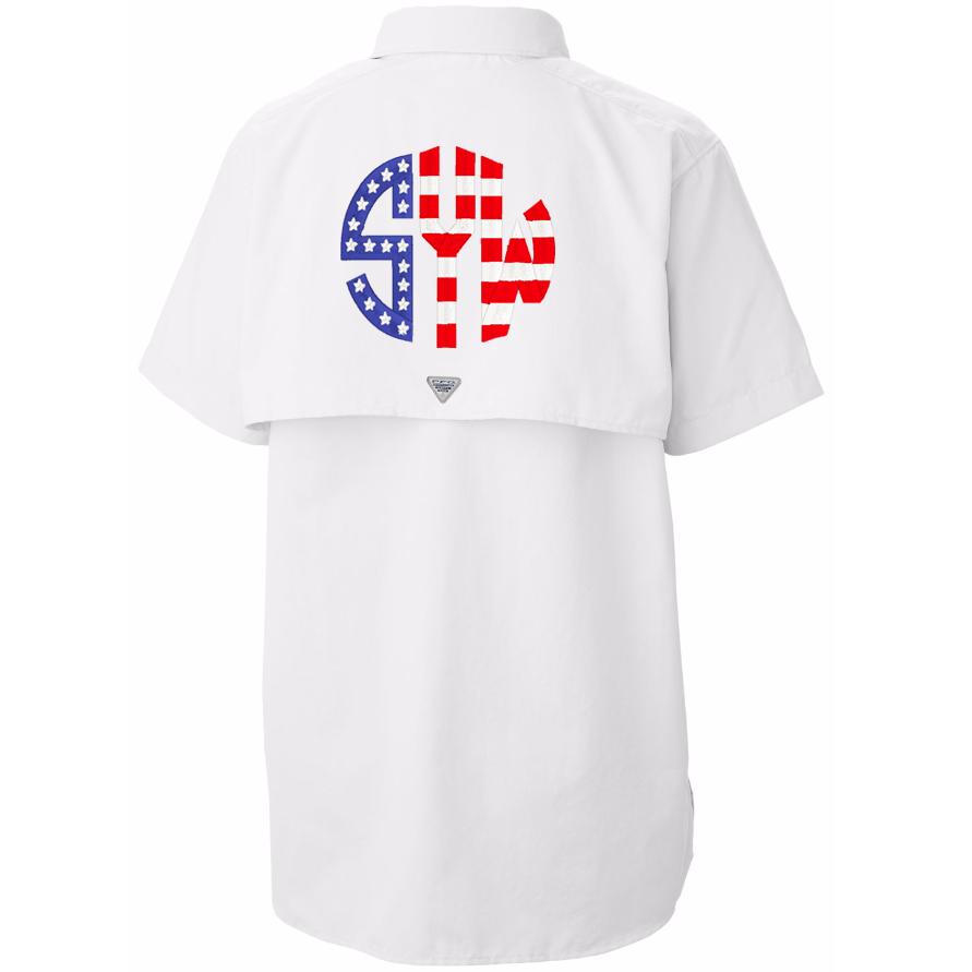 Download American Flag Monogram Fishing Shirt | Fishing shirts ...