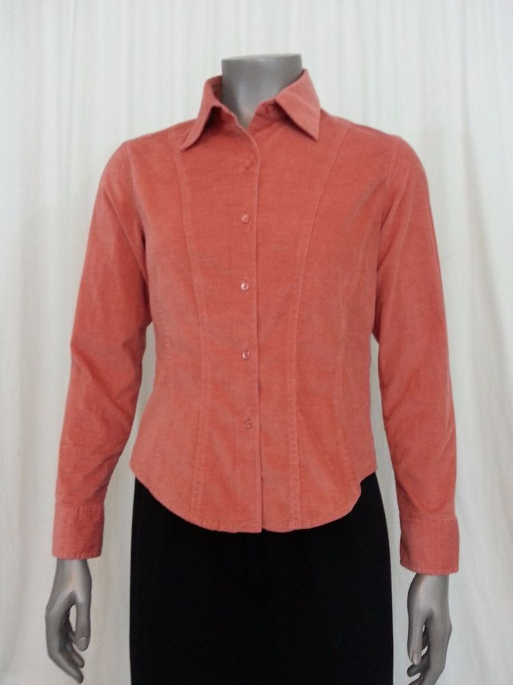 f033ef25da Talbots button front shirt Size Petite S Peach  Talbots  ButtonDownShirt   Casual