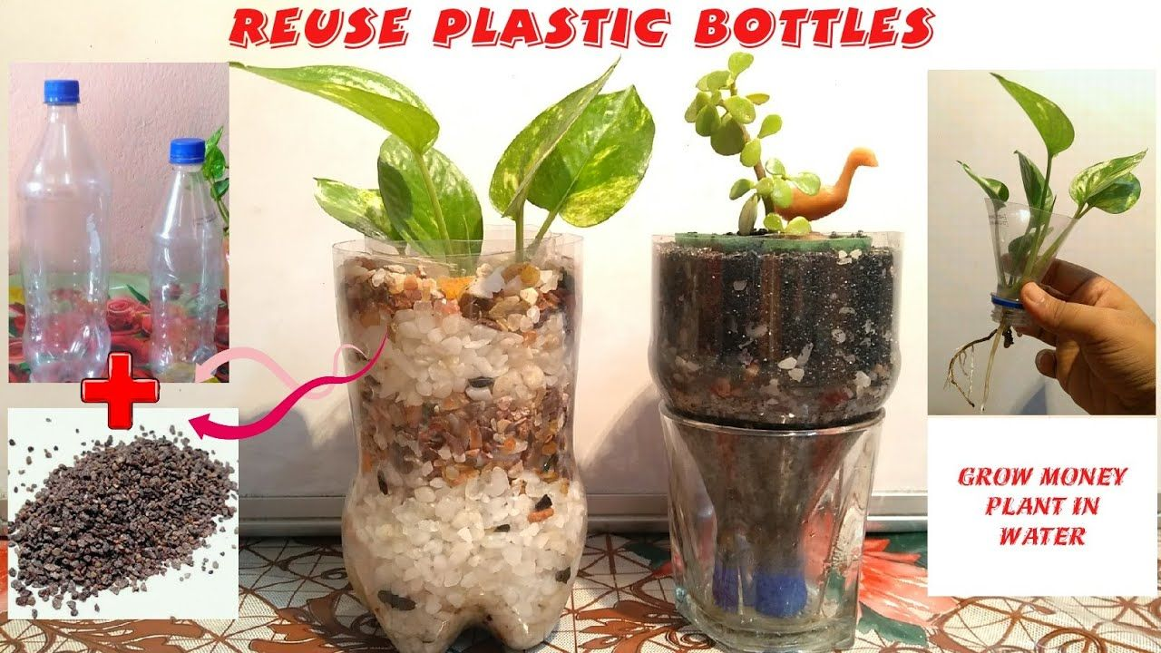 How to make a decorative pots with the help of plastic