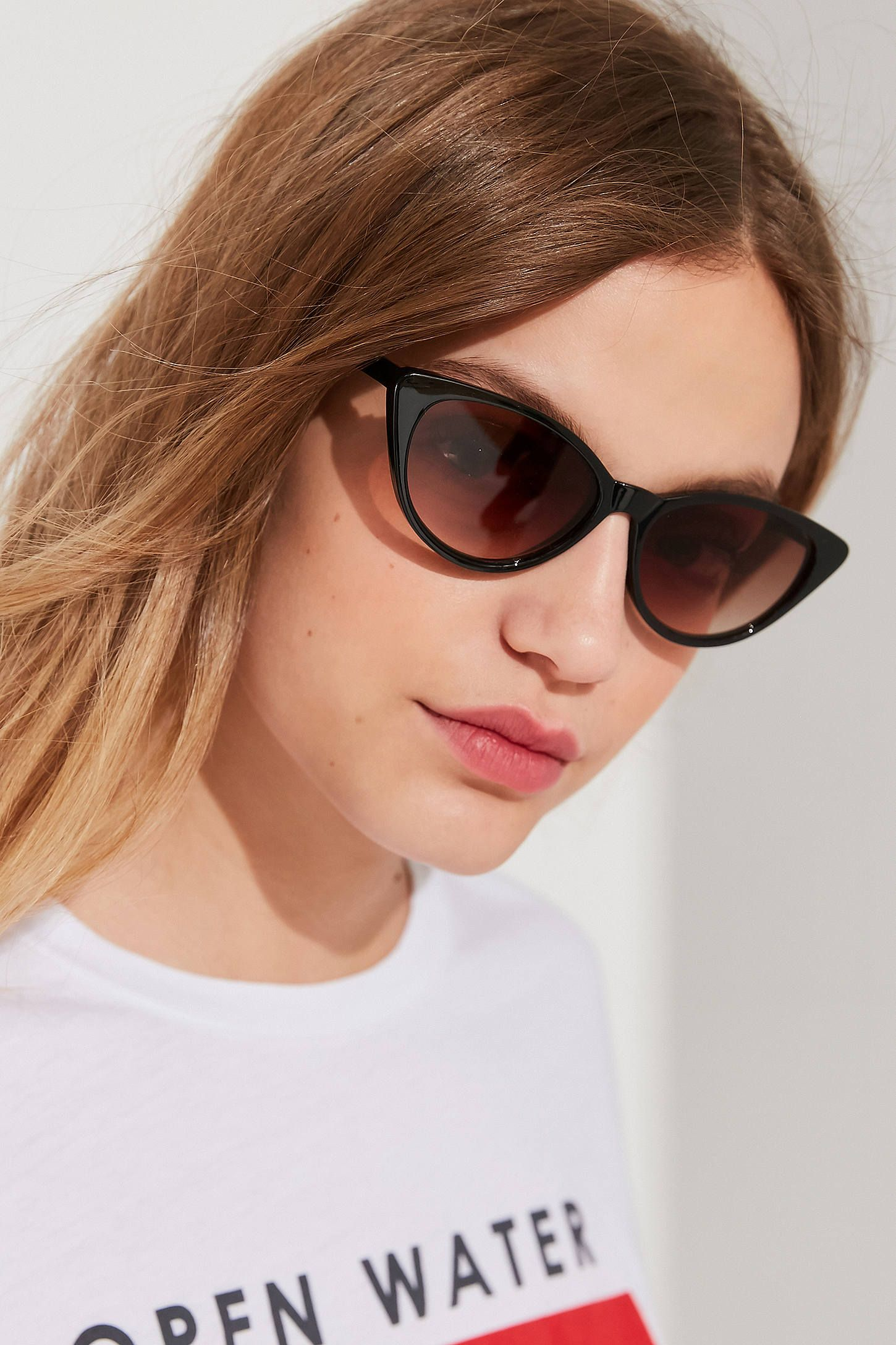 90130fe30 Shop Slim Retro Cat-Eye Sunglasses at Urban Outfitters today. We carry all  the latest styles, colors and brands for you to choose from right here.