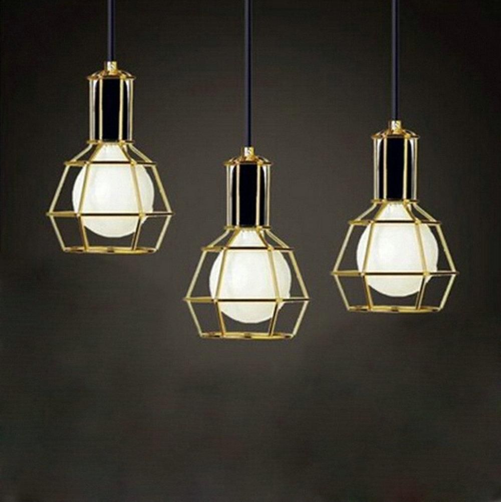 American vintage edison pendant lamps chrome bulb holder for Modern lights for living room