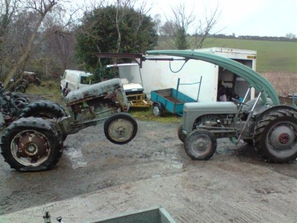 Broken Tractor Ford : A ferguson tractor fitted with quot banana loader