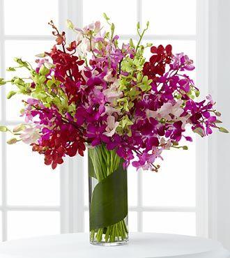 Luxury 30 Stems Of Dendrobium Orchids With Vase Orchid Flower Arrangements Orchid Bouquet Flower Arrangements