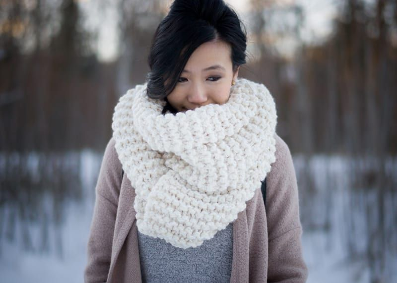 Knitting For Beginners: Simple Garter Stitch Scarf - All About Ami ...