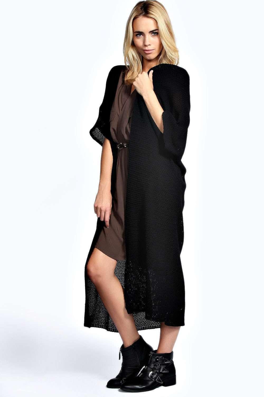 Boohoo Hannah Loose Knit Batwing Maxi Cardigan - on Vein - getvein ...