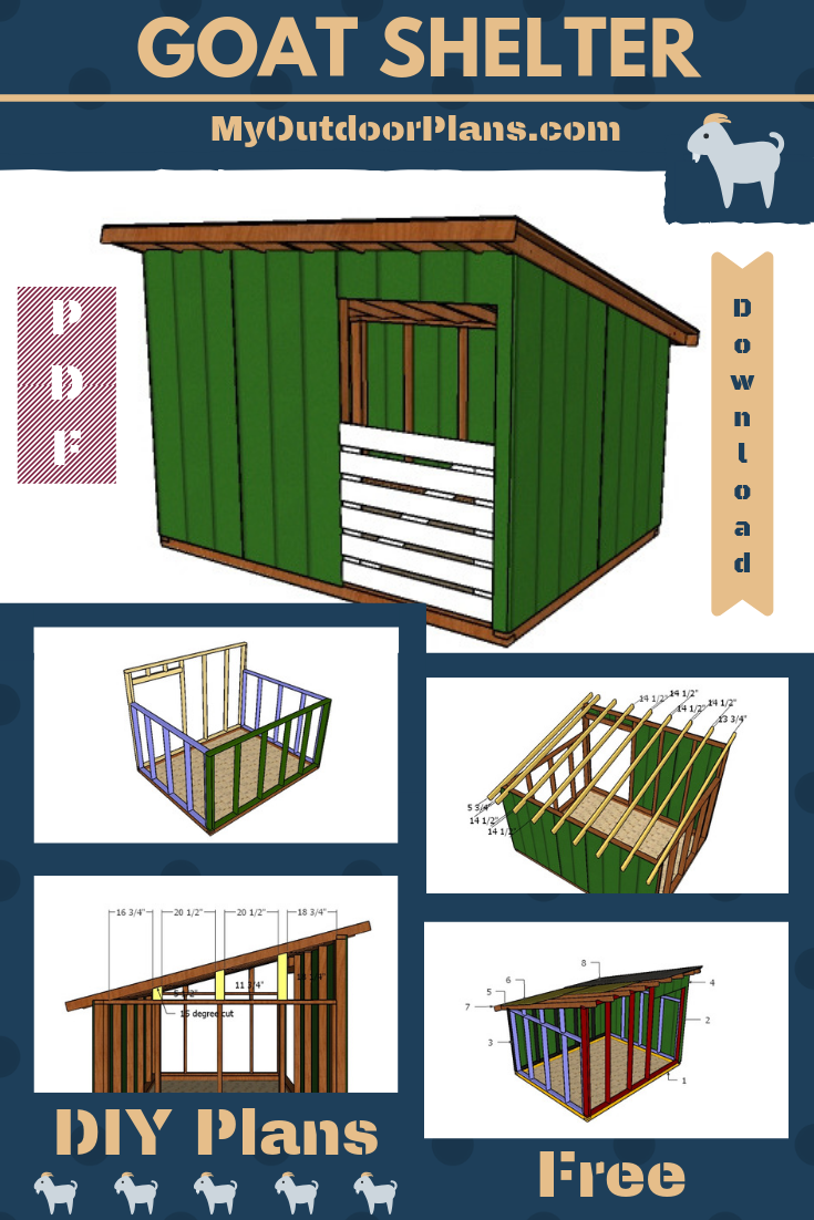 If You Want To Build A Super Basic Goat Shelter That Will Be Both Easy To Build And Also Budget Friendly You Should Check Ou Goat Shelter Goat House Goat Barn