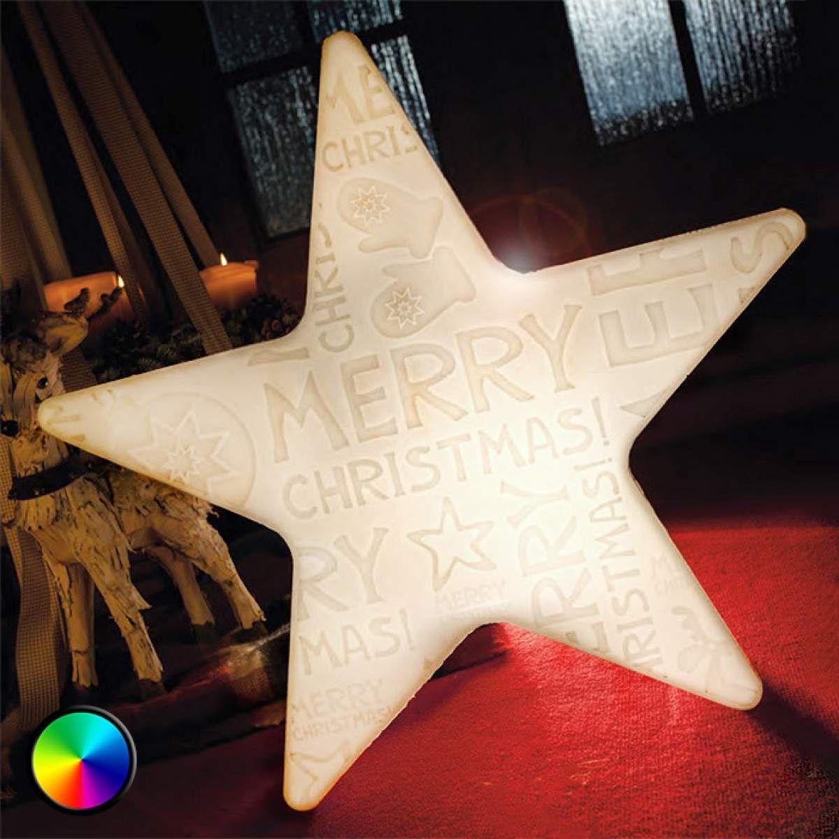 Led Stern Shining Star Merry Christmas M Von 8 Seasons Weihnachtsdeko Fur Innen Weihnachtsdekoration Led Stern