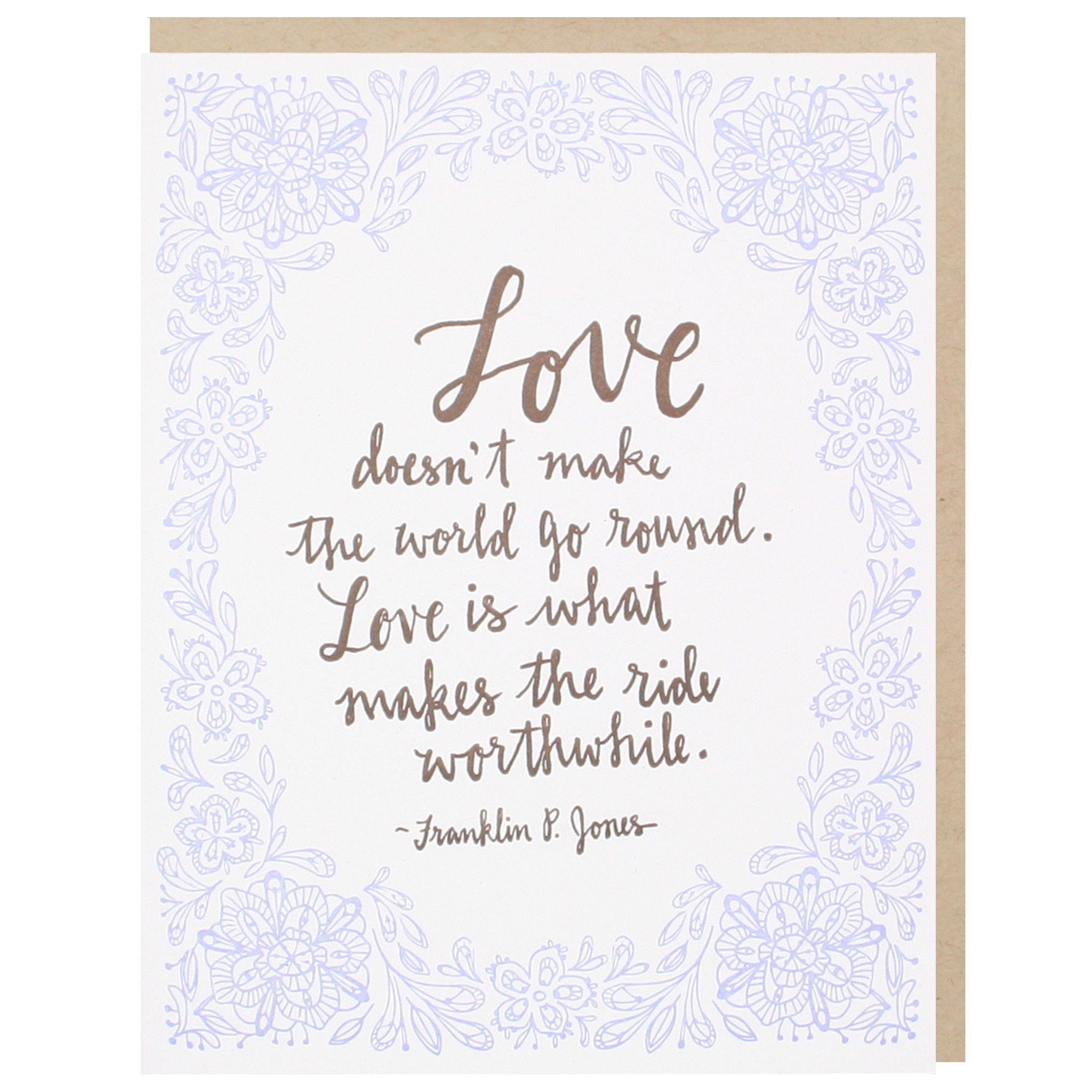 Love Quote Wedding Card
