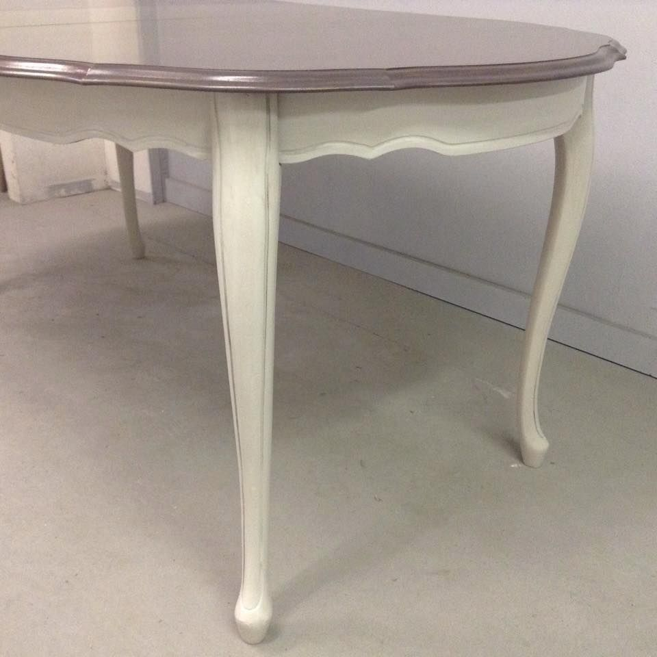Queen Anne Dining Table Makeover With Superior Paint Co Antique