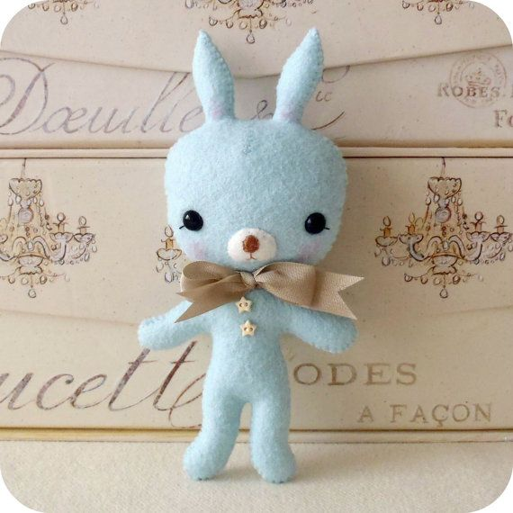 Tag-Along Bunny pdf Pattern Instant Download by Gingermelon