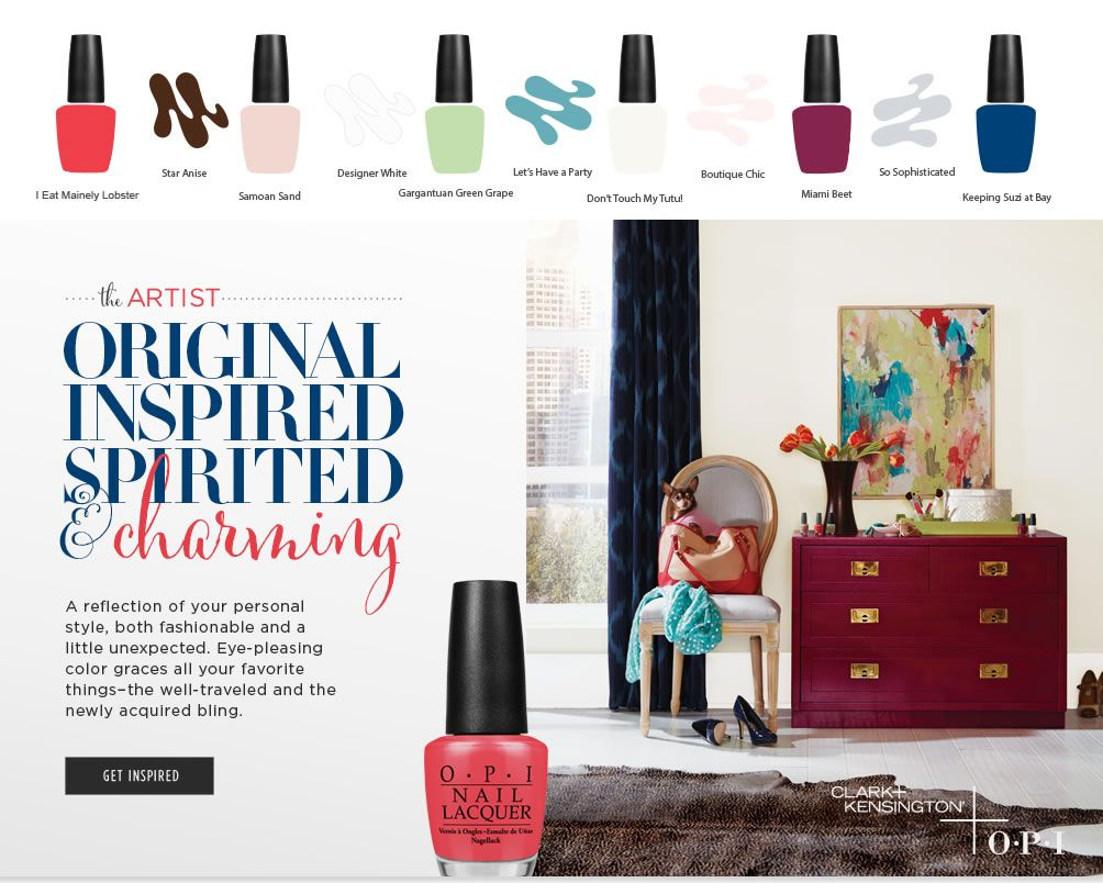 OPI | Clark+Kensington wall paint colors inspired by OPI nail ...