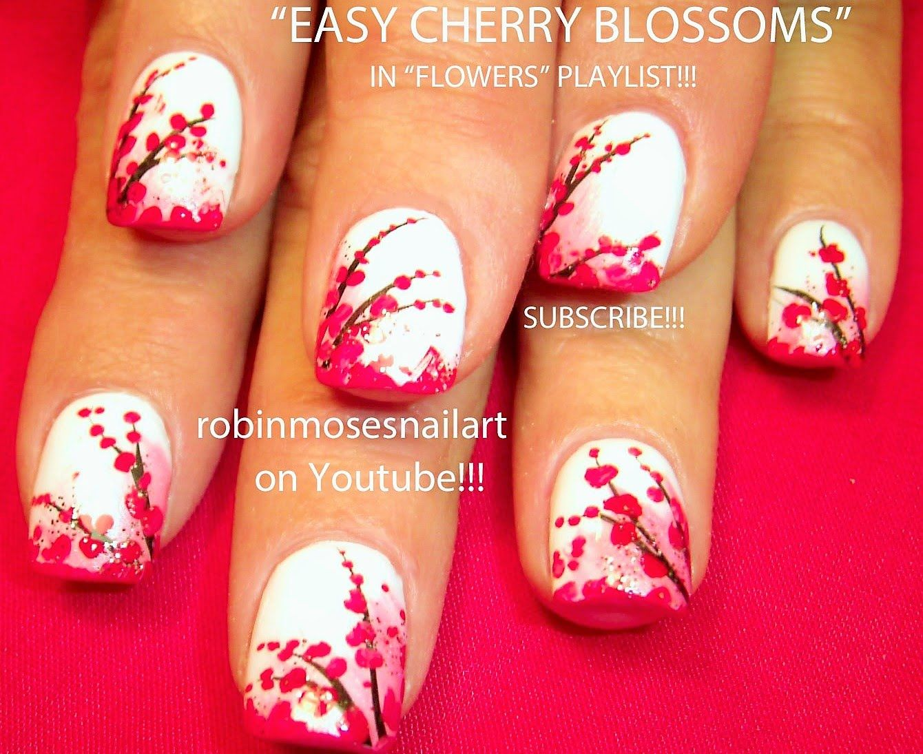 Simple Nail Art simple nail art flowers : Nail Art Tutorial | Easy Cherry Blossom Nail Art Design for ...