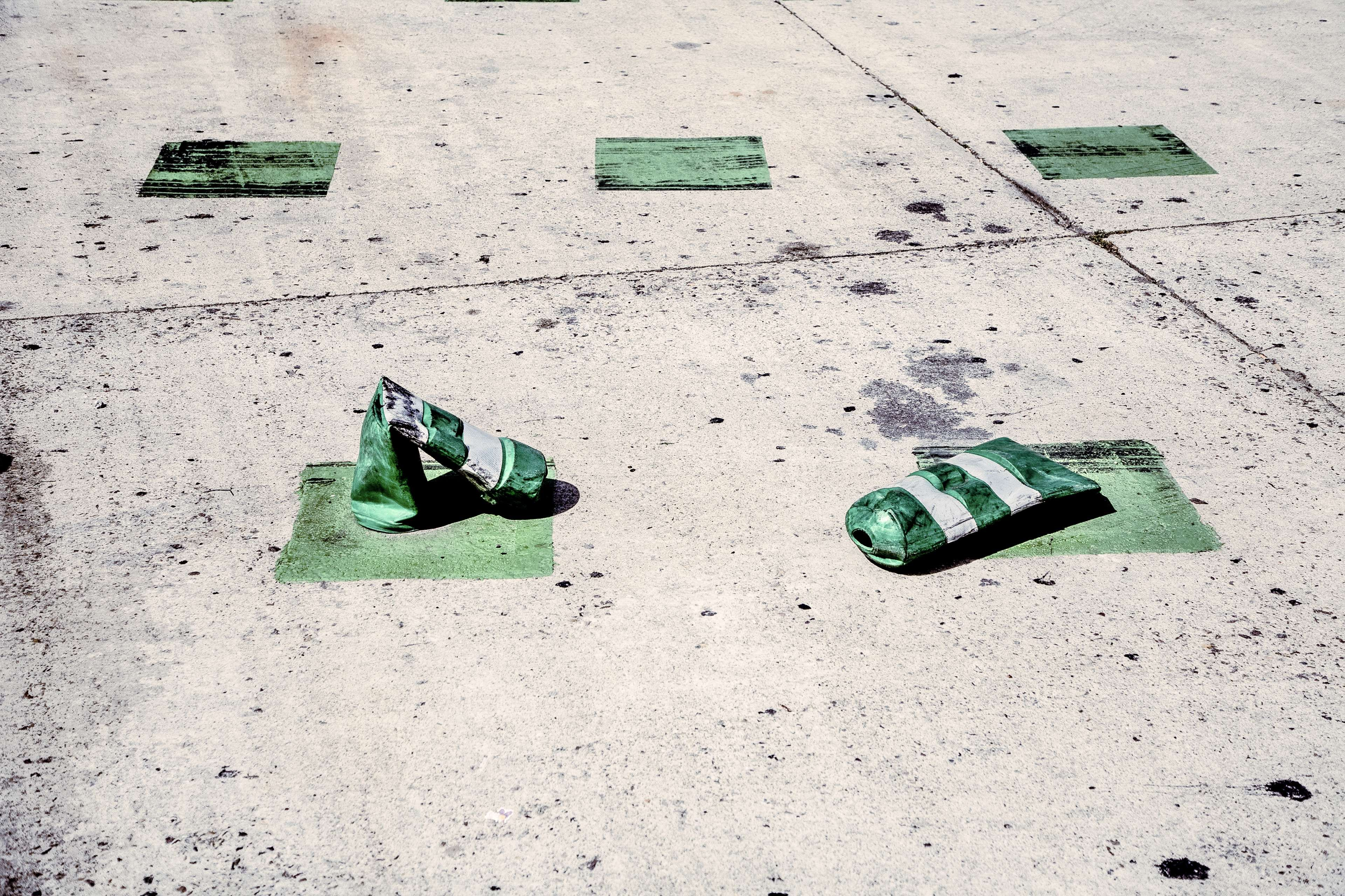 Cans Crushed Parking Lot Recreation Road Road Marking Street Symbol Urban Green Free Images Concrete Wallpaper road trees snow marking snowy