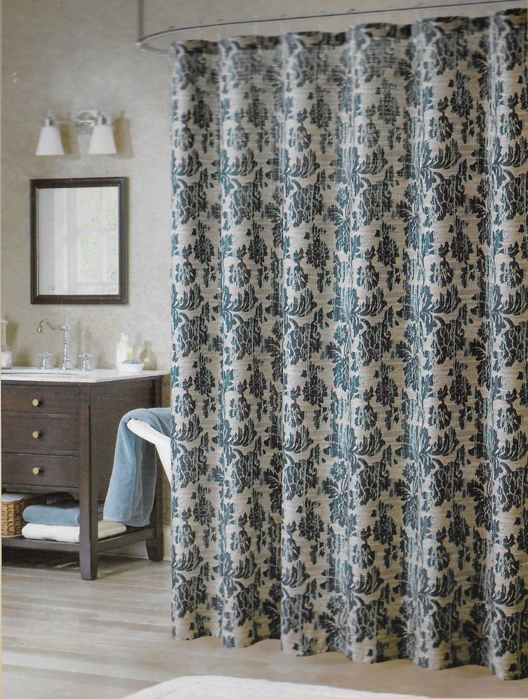 Bombay Floral Blue Shower Curtain 70 X 71 Fabric Bathroom BombayCompany