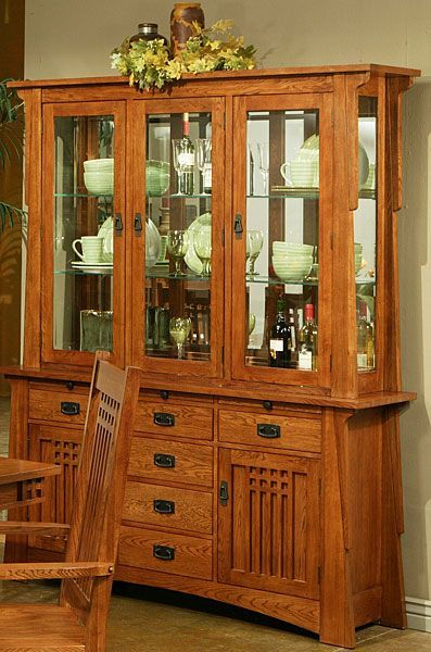 21++ Oak dining room set with hutch Trend