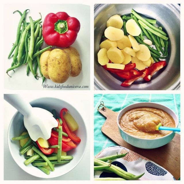 Baby vegetable puree green beans red bell pepper potato pure baby vegetable puree green beans red bell pepper potato pure suitable from 6 forumfinder Image collections