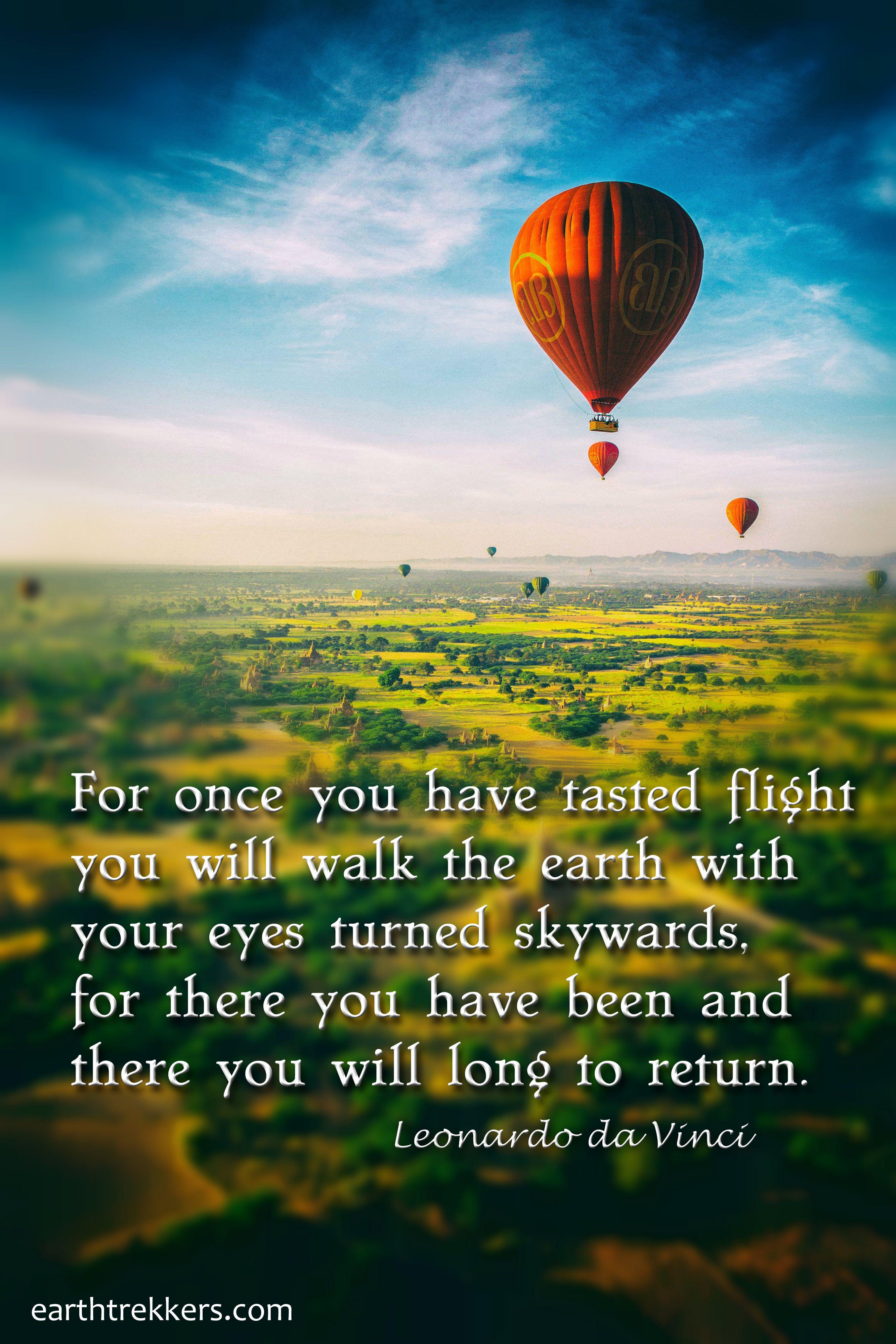 Leonardo Da Vinci Travel Quote Photo Taken In Bagan Myanmar