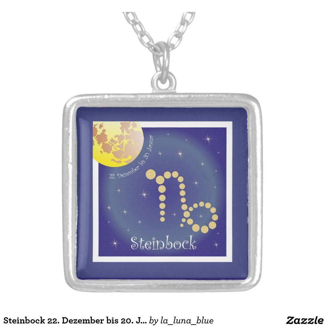 Steinbock 22. Dezember bis 20. Januar Halskette