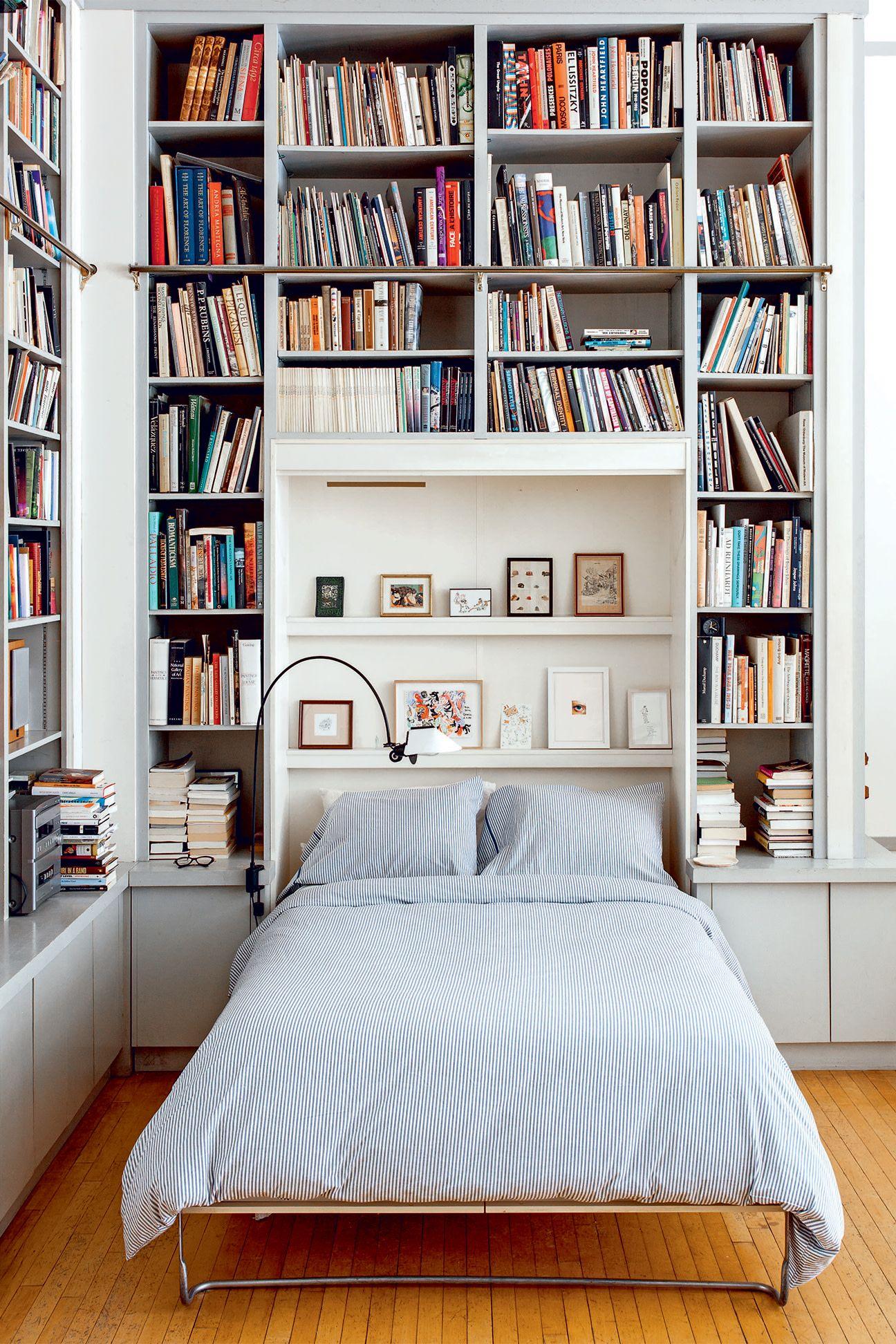 Illustrator Joana Avillez S Apartment Is A Book Lover S Dream Bookshelves In Bedroom Murphy Bed Bookcase Floor To Ceiling Bookshelves