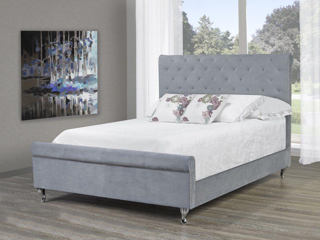 Manila Platform Queen Bed - Grey Velvet | Bedroom Ideas | Pinterest ...