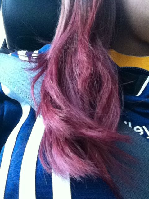 Dyed My Hair With Purple Food Coloring And It Turned Out This Color Love It But My Hands Are Stained Pink Lol Dye My Hair Purple Hair Hair