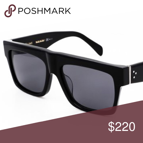 b1be7630e35 Celine ZZ Top Sunglasses CL41066 S Black Polarized Made of Acetate and  Plastic