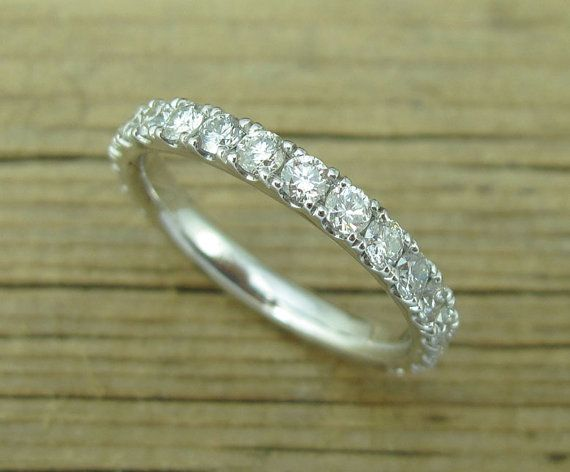 eternity band ct p gold bands for pave women diamond white