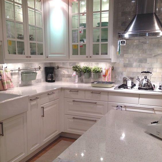 Ikea Kitchen Showroom Looking Good White Ikea Kitchen
