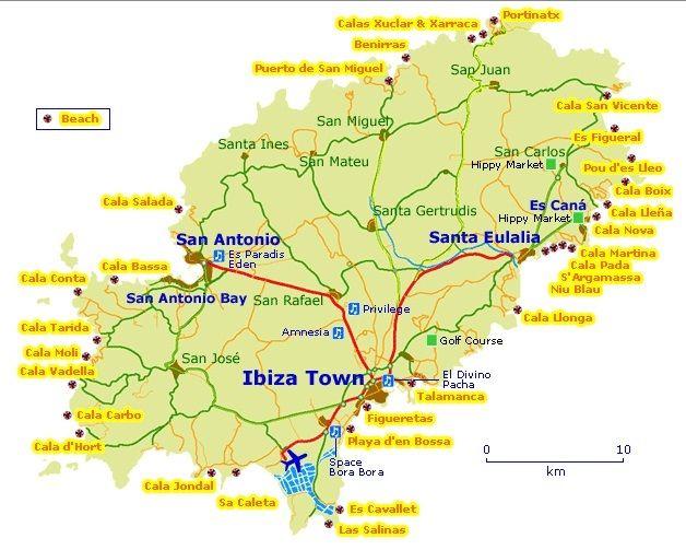 Afbeeldingsresultaat Voor Kaart Ibiza Ibiza Ibiza Spanje Kaarten