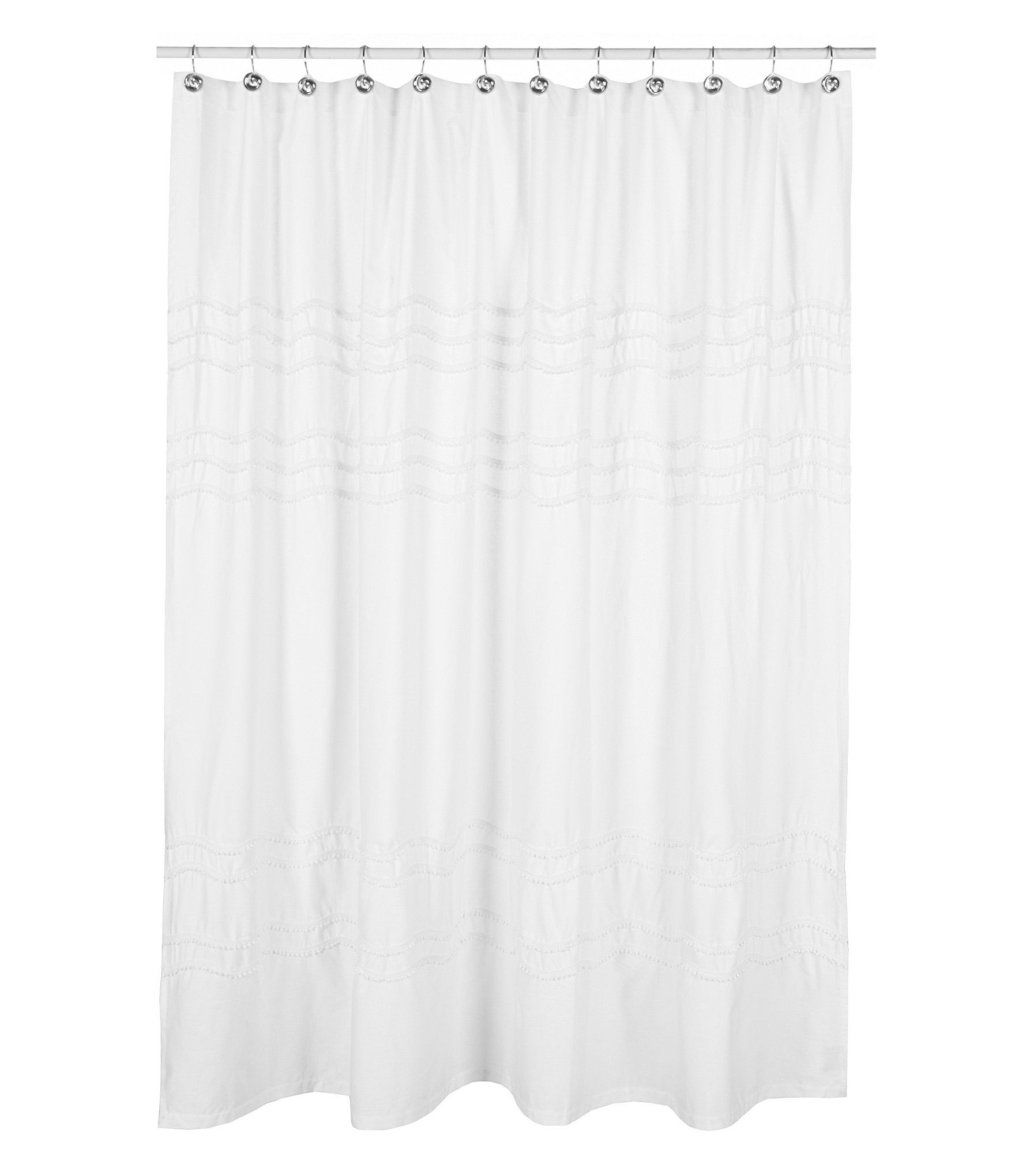 Shop For Southern Living Chantilly Chevron Pom Pom Linen Shower