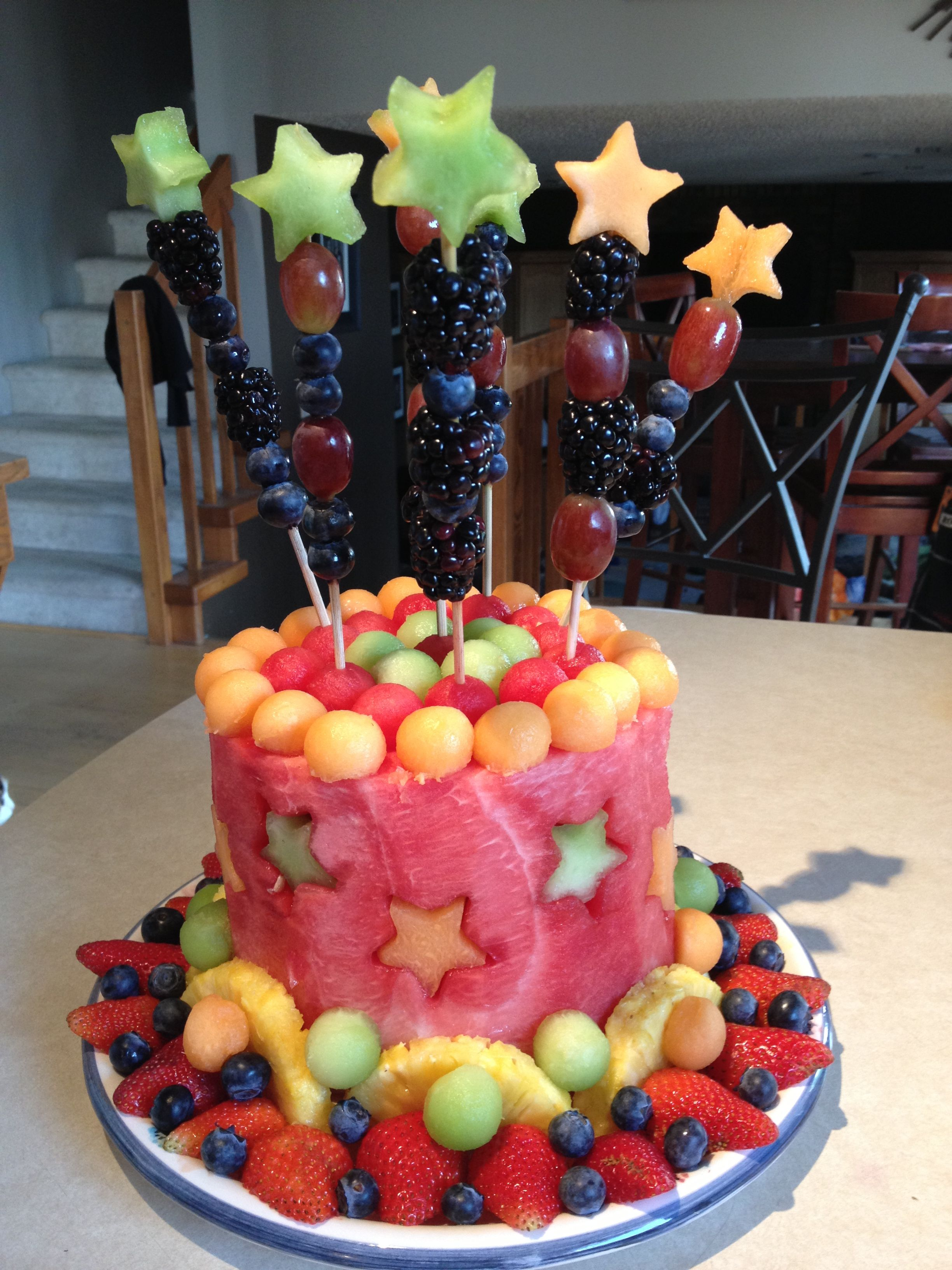 Fresh fruit cake so yummy Make a dip with cool whip 1 pkg
