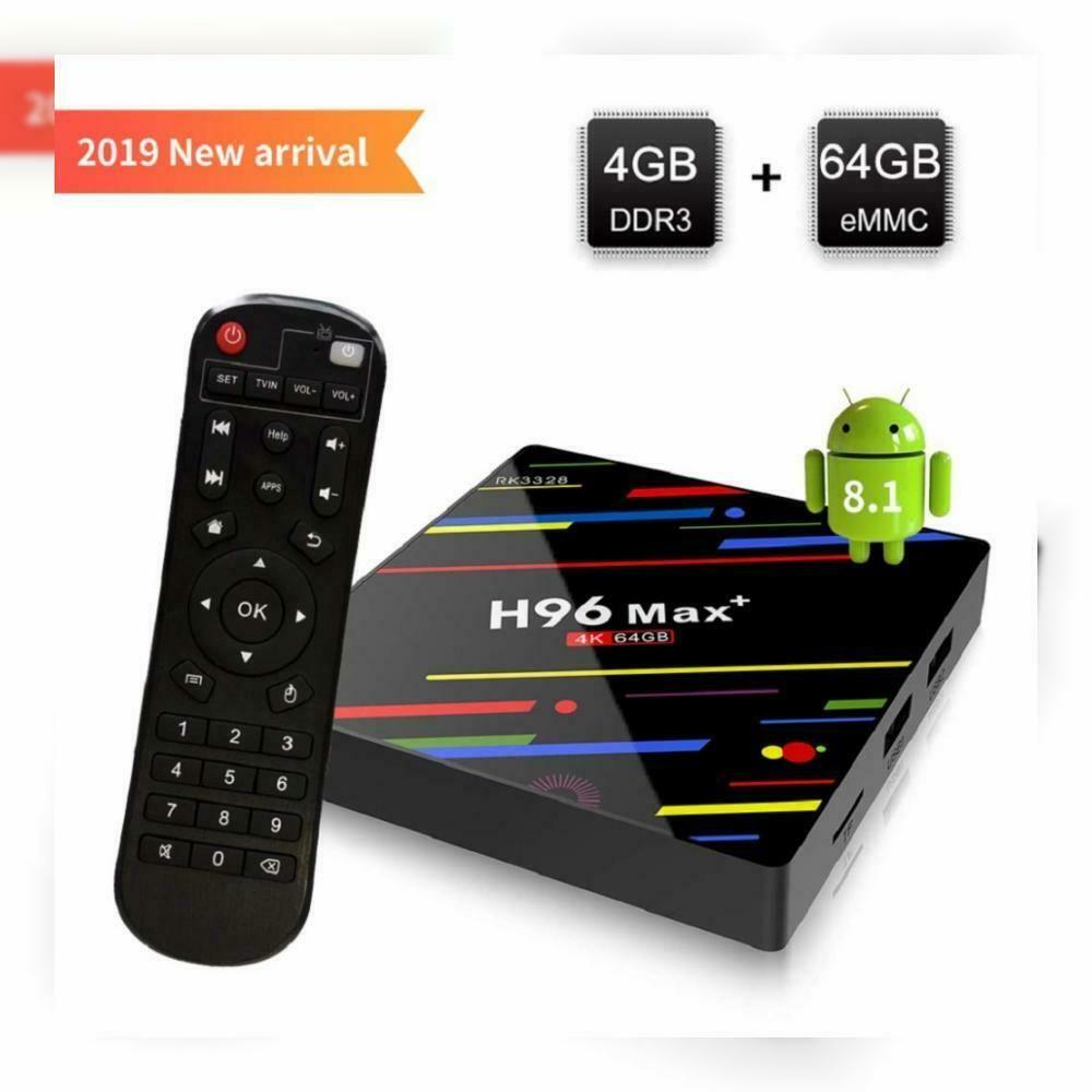 [Android 8.1 TV Box] H96 Max Smart Box 4GB64GB RK3328 Quad