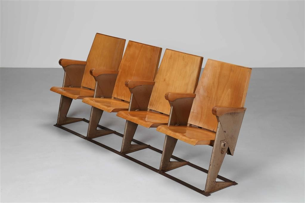 Sedie Riciclate ~ Rinaldi gastone per rima fila di quattro sedie da cinema modello