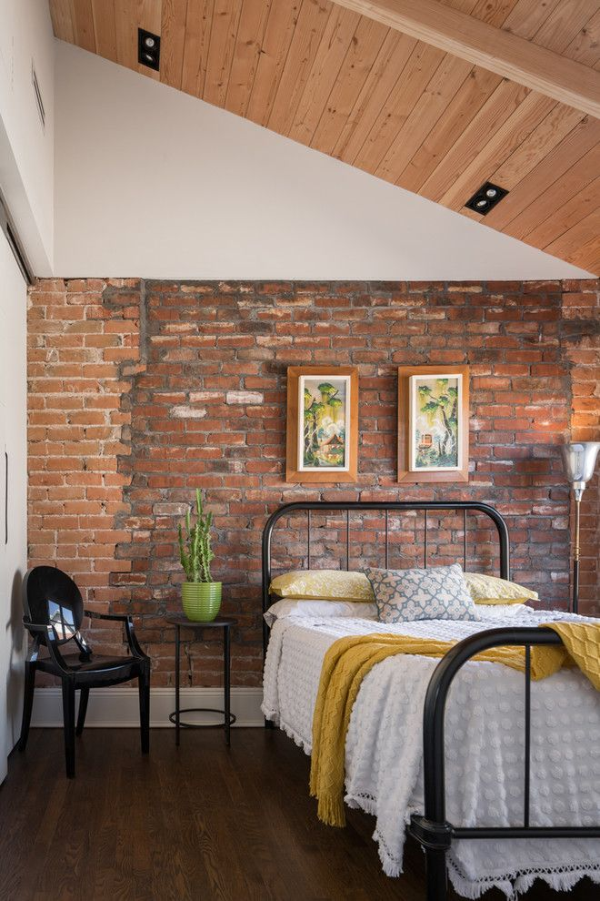 industrial bedroom furniture melbourne%0A cool interiors with exposed brick walls  Industrial BedroomHome