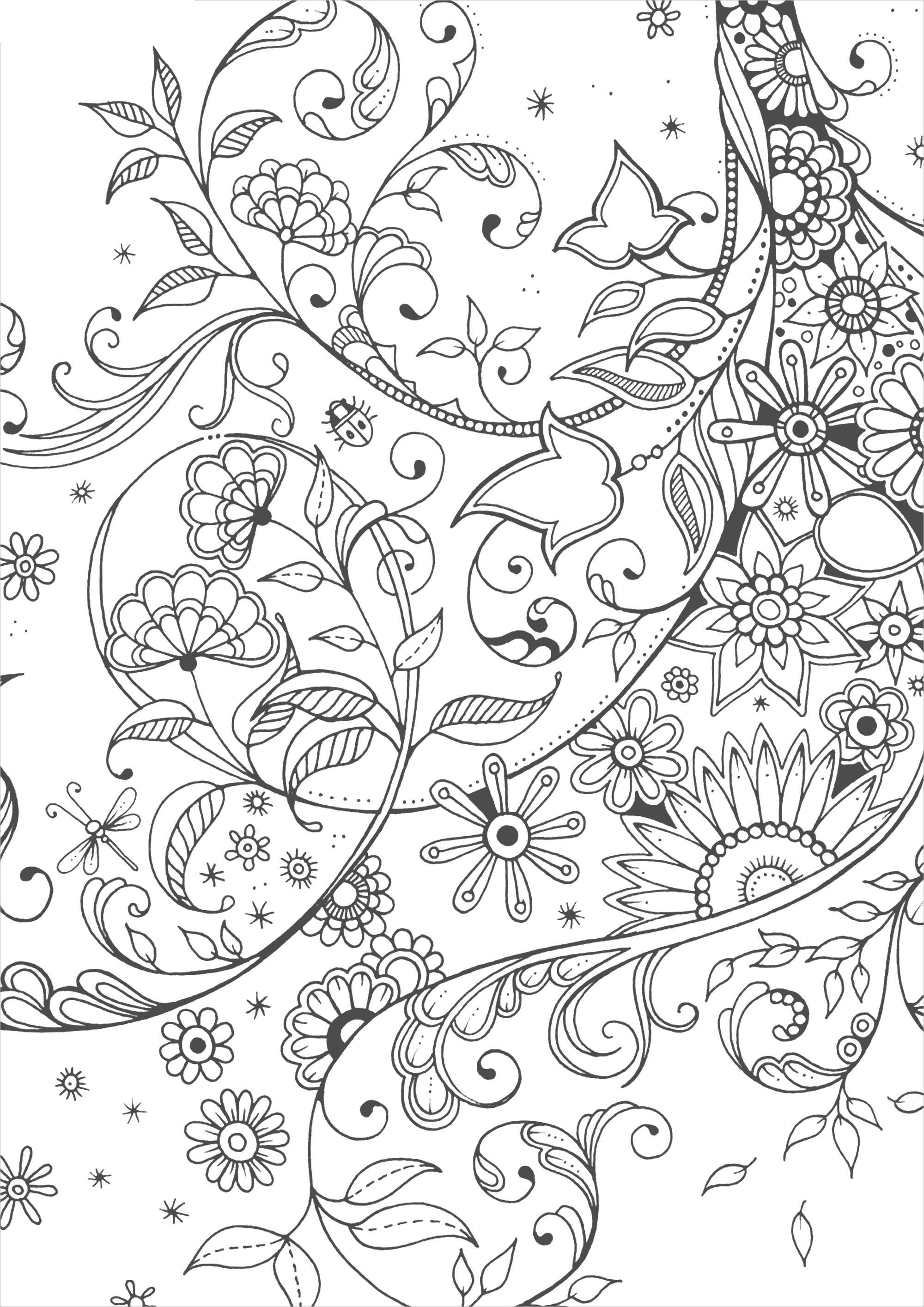 Цветы и листья | Раскраски, Рисунки для раскрашивания ...