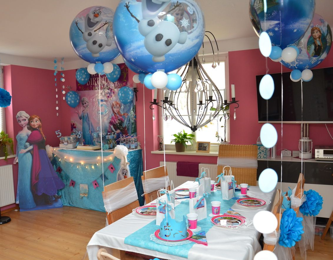 Frozen bubbles frozen birthday decoration frozen for Dekoration 50 geburtstag party