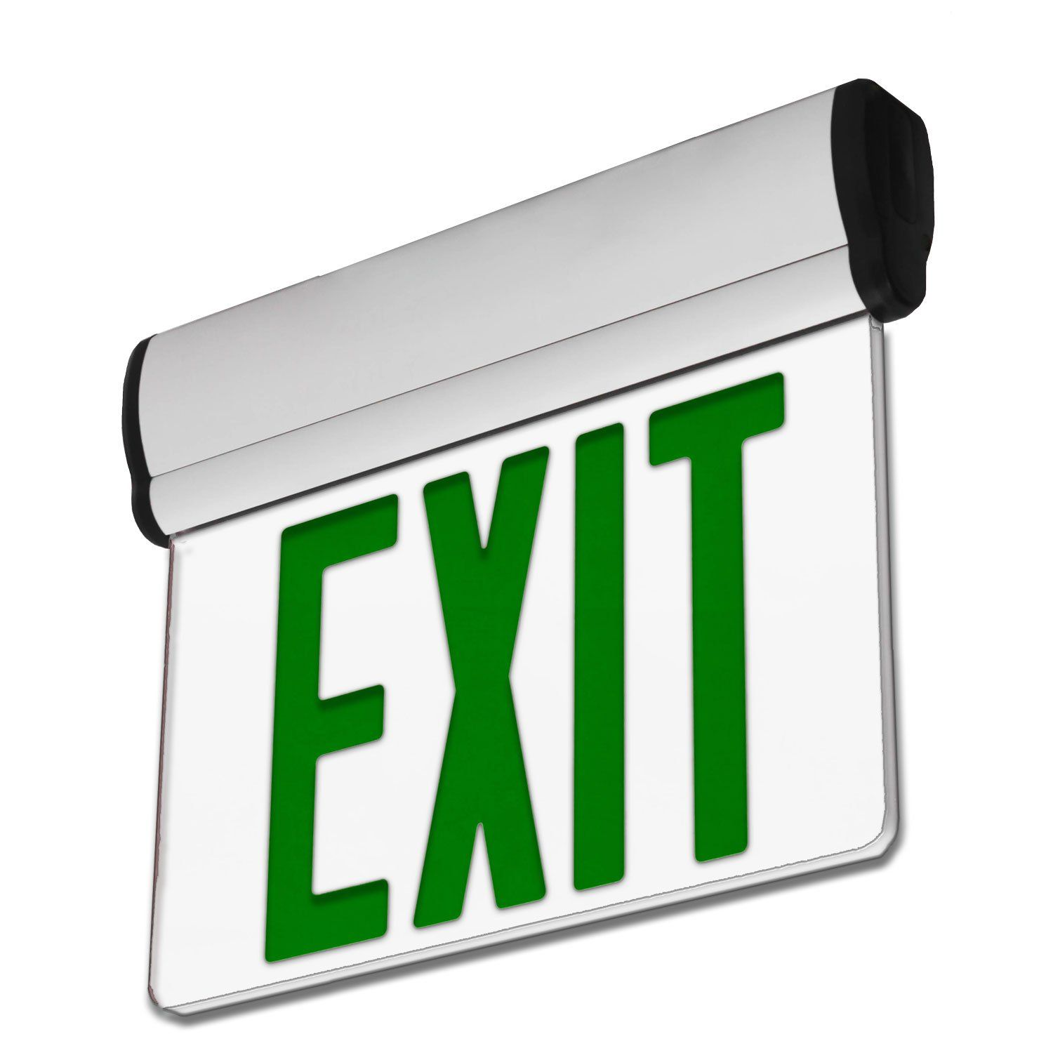 Lfi Lights 2 Pack Ul Certified Hardwired Green Led Edge Light Exit Sign Rotating Panel Battery Backup Elrtgx2 Visit T With Images Exit Sign Edge Lighting Green Led