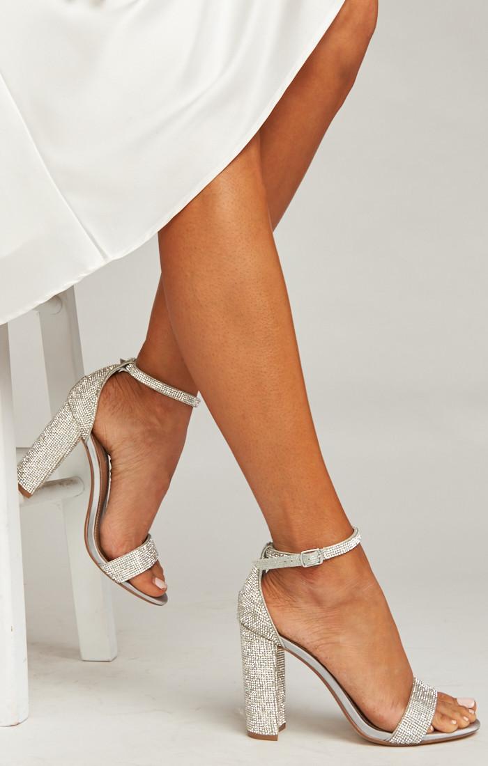 Steve Madden Carrson Heels Crystal Bridal Shoes Prom Heels Wedding Heels