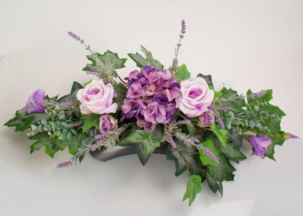 Sztuczne Kwiaty Na Grob Stroik Bukiet Kompozycja 7188685203 Allegro Pl Wiecej Niz Aukcje Floral Wreath Floral Wreaths
