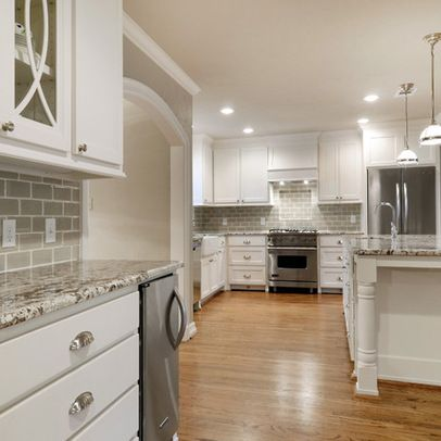 Bianco Antico Granite With Gray Subway Tiles Kitchen Backsplash Mesmerizing Backsplash For Bianco Antico Granite Ideas
