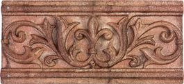 "Valencia Terracotta Cast Stone Border 3"""" x 6.5"""""
