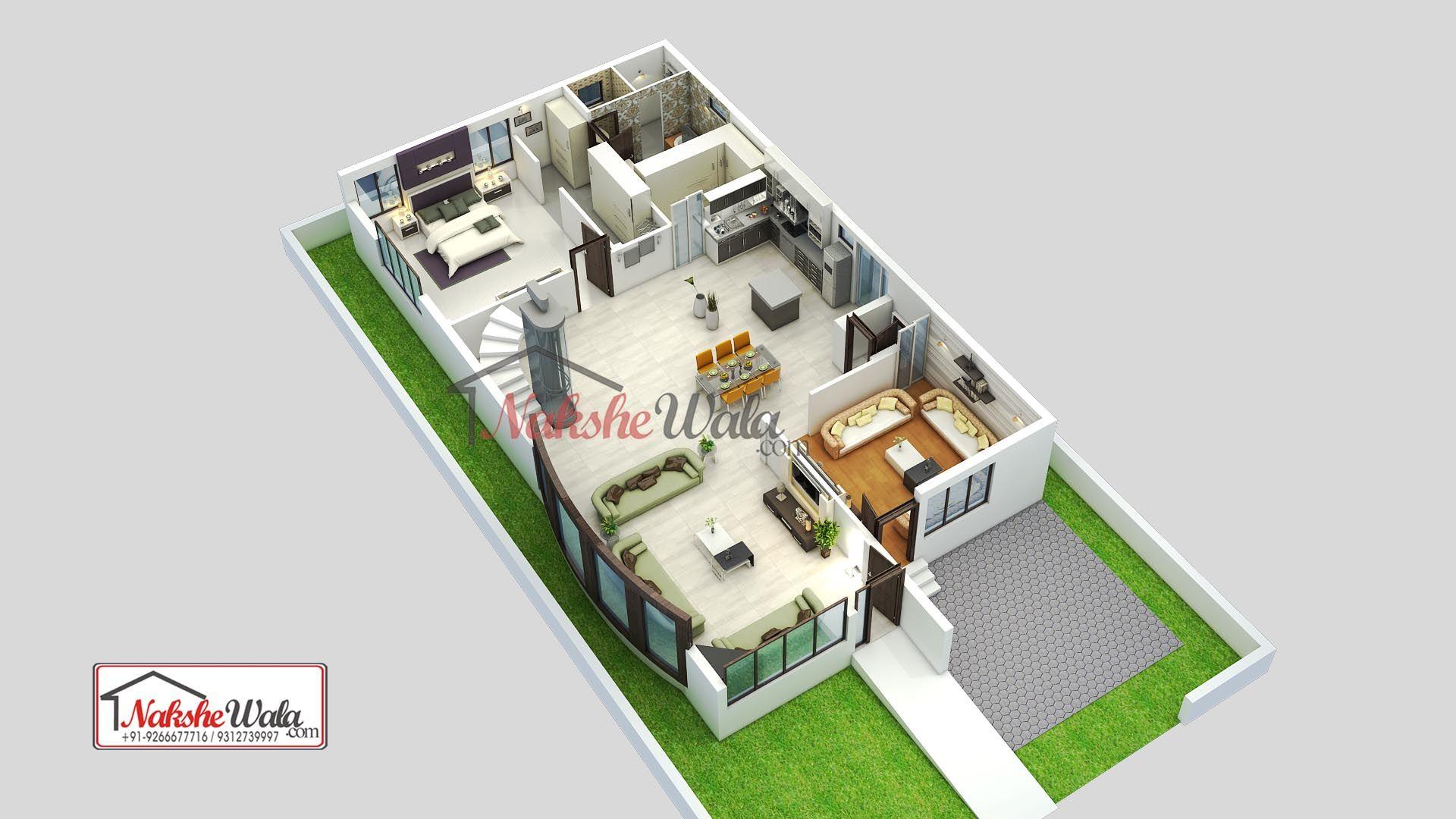 1 Bhk House 3d Floor Plan Floor Plan Design Floor Plans Floor Plans Online