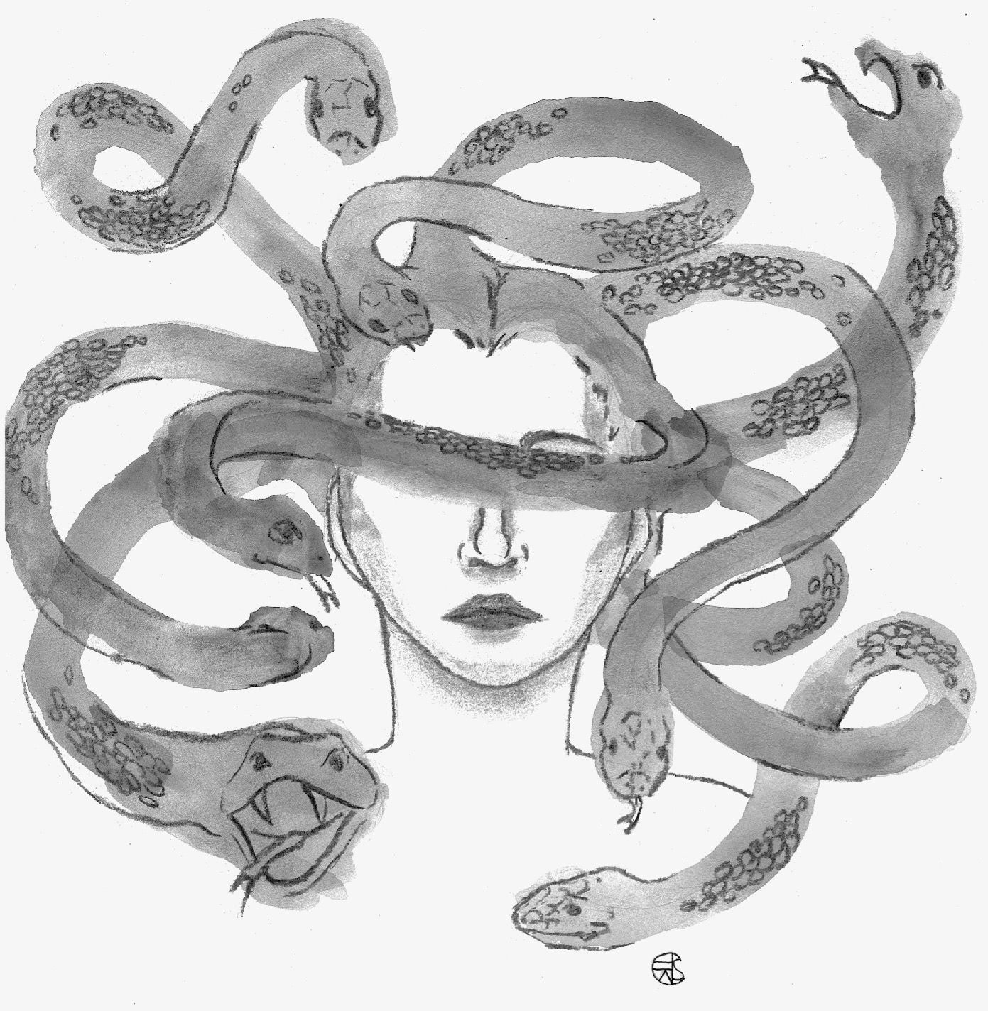 """""""Medusa"""" by Caroline Alkonost     AS A CHILD I WAS TERRIFIED OF MEDUSA. Ironically, I was drawn to and all-but-obsessed with Pegasus, but ..."""