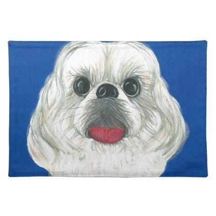 My Darling Shih Tzu Cloth Placemat Shih Tzu Puppy Dog Dogs Pet Pets Cute Shihtzu Shih Tzu Puppy Love Pet Shih Tzu