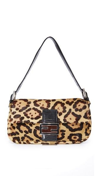 e162abadb6b9 WHAT GOES AROUND COMES AROUND Fendi Leopard Pony Baguette Bag (Previously  Owned).  whatgoesaroundcomesaround  bags  shoulder bags  fur
