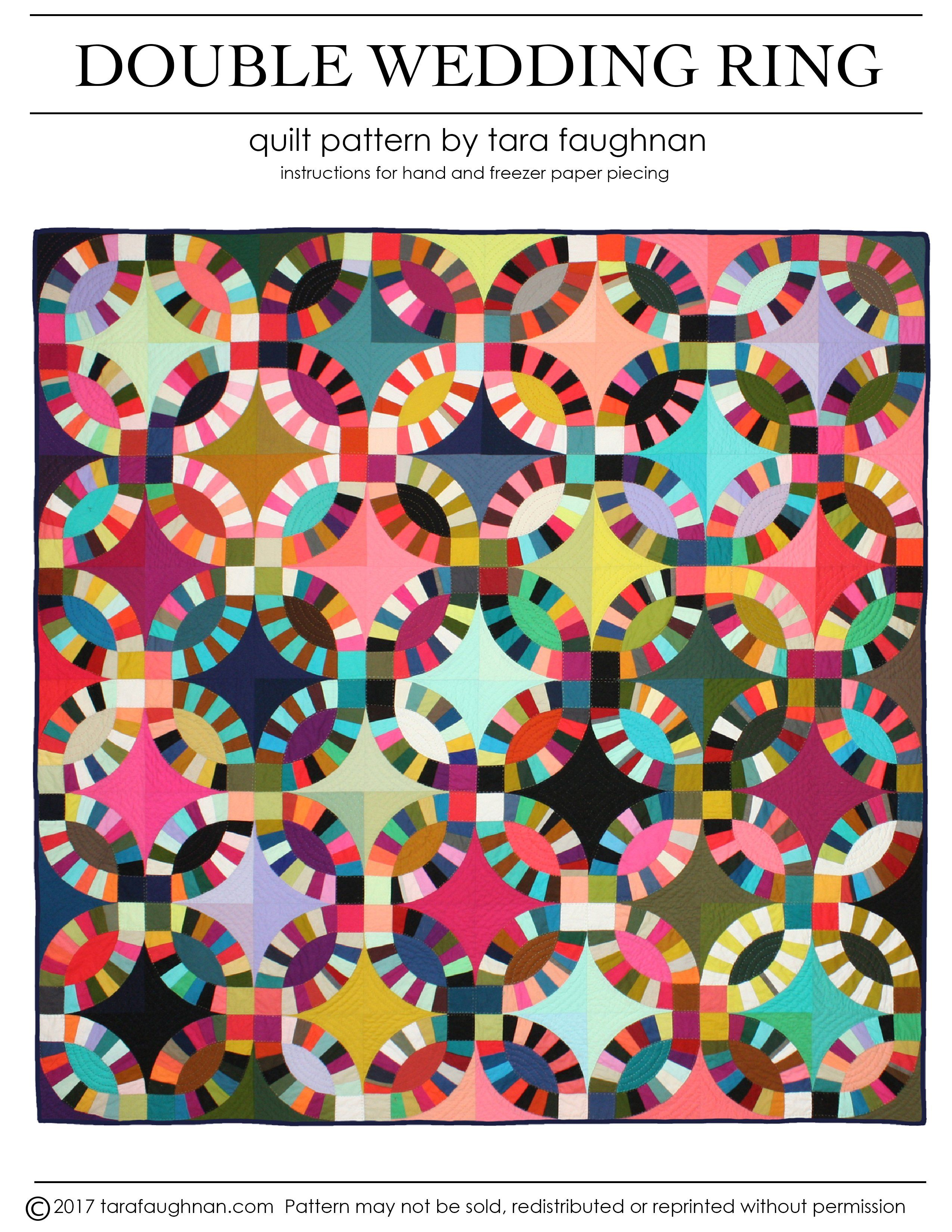 Double Wedding Ring Quilt Pattern PDF in 2020 Double