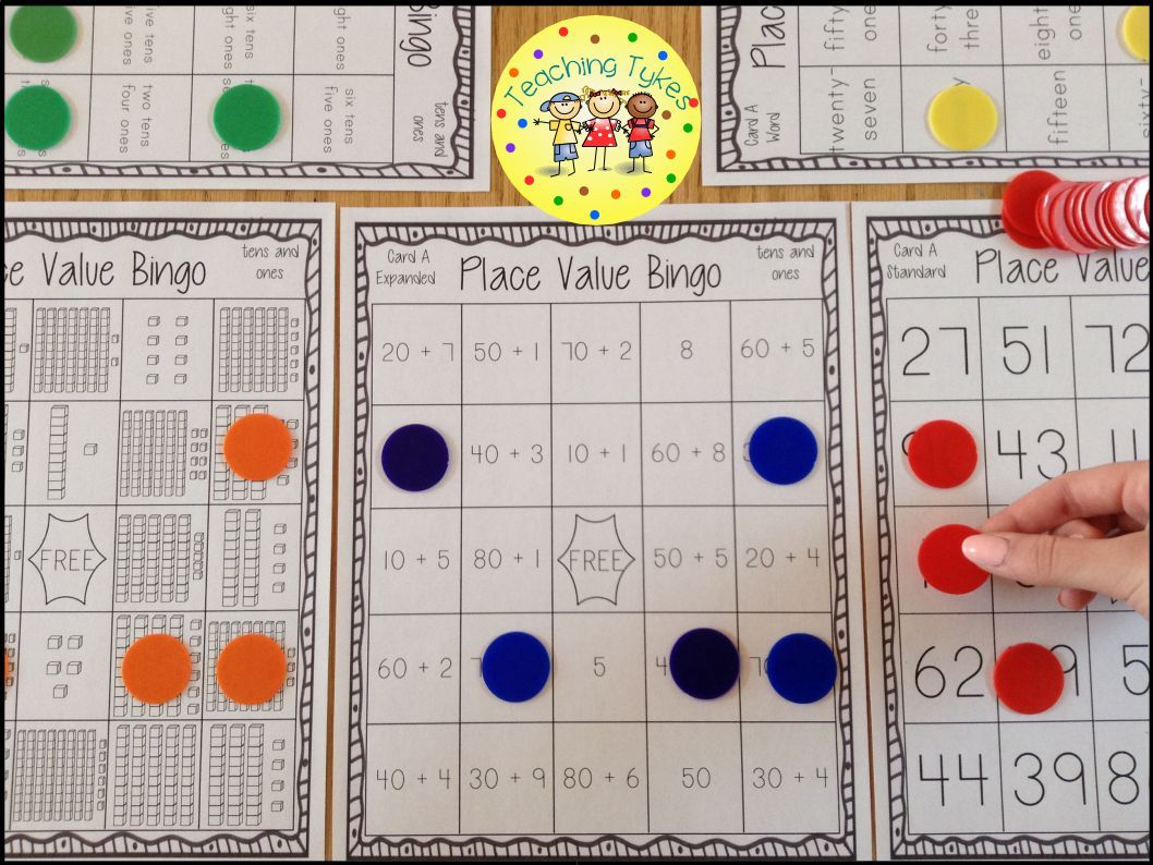 Place value bingo tens and ones math expanded form and standard form base 10 blocks expanded form place value form word form and standard form falaconquin
